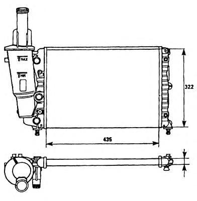 Радиатор, охлаждение двигателя NRF 58951