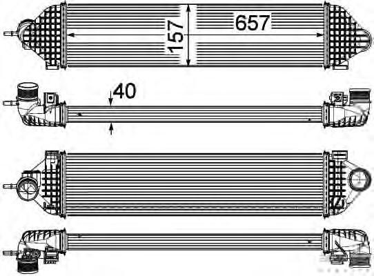 8ML376755621 BEHR-HELLA Интеркулер