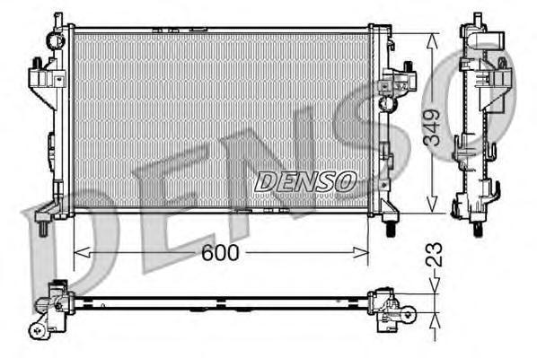 DRM20045 DENSO Радиатор, охлаждение двигателя