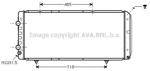 PE2151 AVA Радиатор, охлаждение двигателя