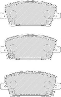 Комплект тормозных колодок, дисковый тормоз FERODO FDB1859