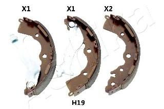 Комплект тормозных колодок ASHIKA 550HH19