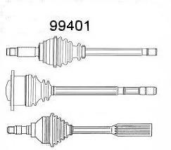 Сервис срочного ремонта, шарнир приводной вал GKN-SPIDAN 99401