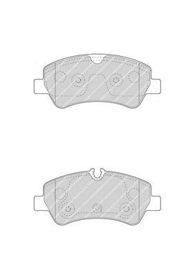 Комплект тормозных колодок FERODO FVR4398
