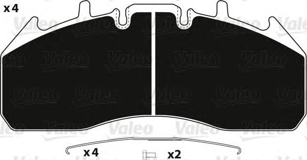 882246 VALEO Комплект тормозных колодок, дисковый тормоз
