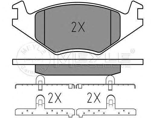 0252088719 MEYLE Комплект тормозных колодок, дисковый тормоз