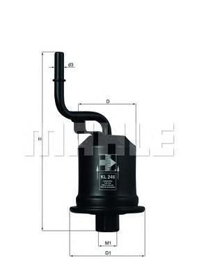 KL246 MAHLE Топливный фильтр