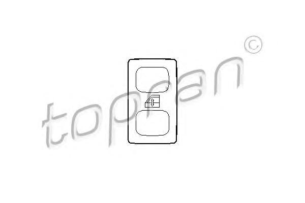 102979 TOPRAN Выключатель, стеклолодъемник