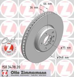 Тормозной диск ZIMMERMANN 150347820