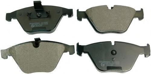 B110999 DENCKERMANN Комплект тормозных колодок, дисковый тормоз