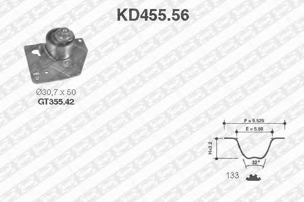 KD45556 NTN-SNR Комплект ремня ГРМ