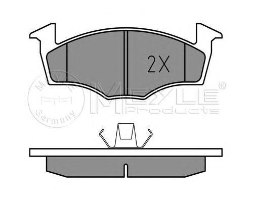 0252186615 MEYLE Комплект тормозных колодок, дисковый тормоз