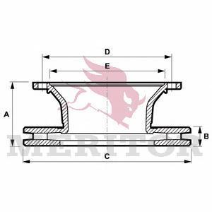 Тормозной диск MERITOR MBR5105