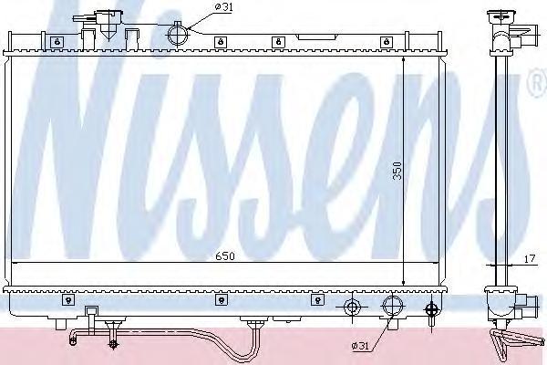 647771 NISSENS Радиатор, охлаждение двигателя
