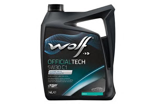 Масло моторное синтетическое WOLF 5W30 C1, 4л WOLF 8307812