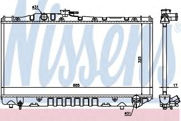 Радиатор, охлаждение двигателя NISSENS 64712