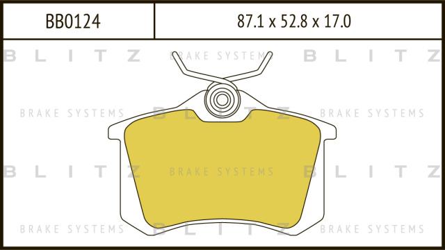 Колодки тормозные дисковые BLITZ BB0124