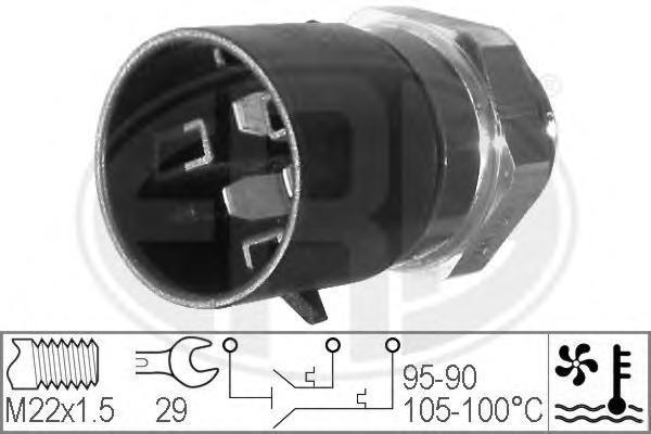 330217 ERA Термовыключатель, вентилятор радиатора