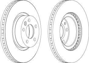 Тормозной диск FERODO DDF12541