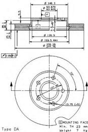 Тормозной диск BREMBO 09946414