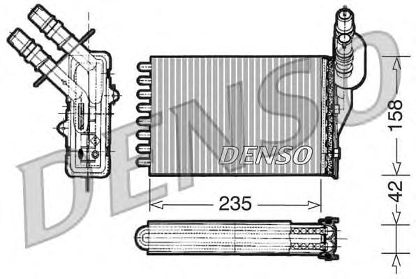 DRR23001 DENSO Радиатор отопителя