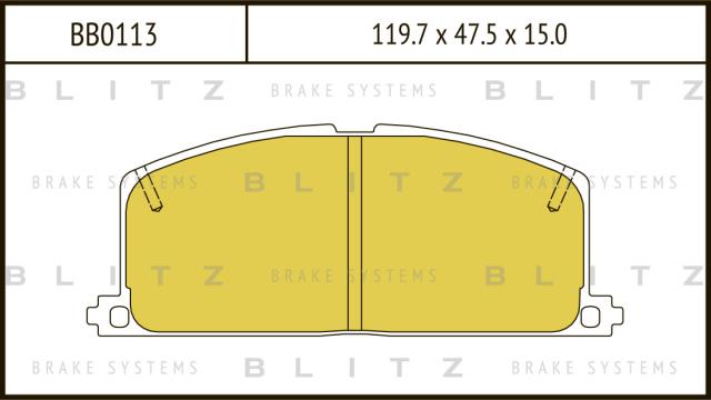 BB0113 BLITZ Колодки тормозные дисковые