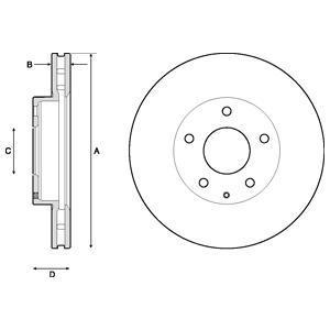 BG4712C DELPHI Тормозной диск