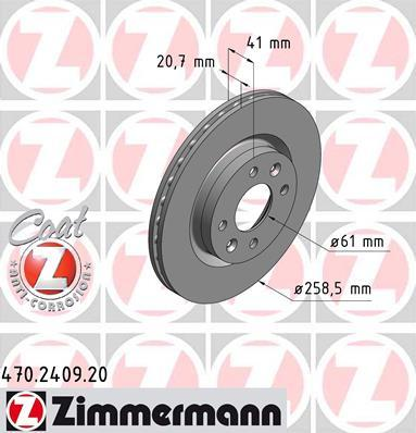 470240920 ZIMMERMANN Тормозная система