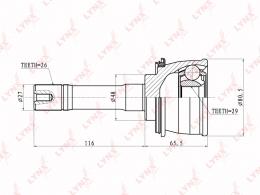 Шарнирный комплект, приводной вал LYNX CO7301
