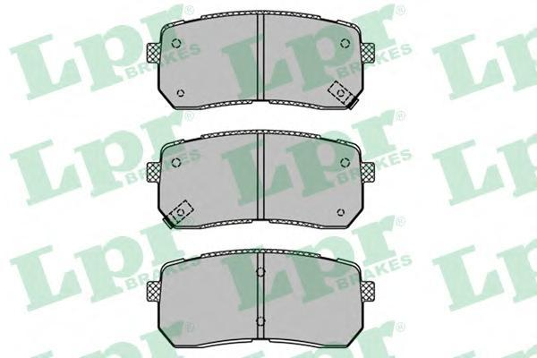 05P1450 LPR/AP Комплект тормозных колодок, дисковый тормоз