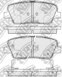 Комплект тормозных колодок NIBK PN0415