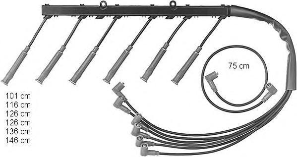 Комплект проводов зажигания BERU ZEF493
