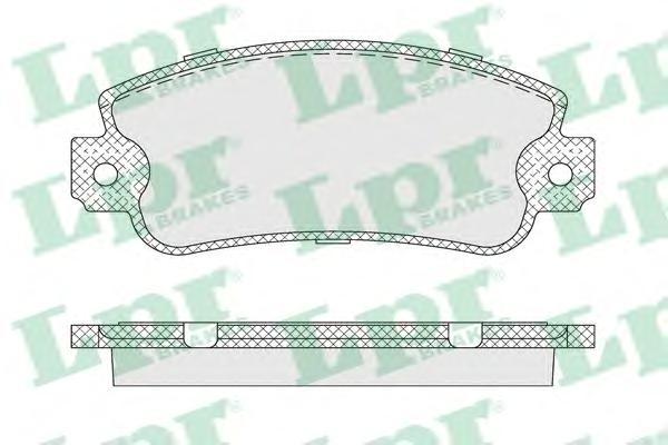 05P007 LPR Комплект тормозных колодок, дисковый тормоз