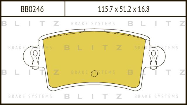 Колодки тормозные дисковые BLITZ BB0246