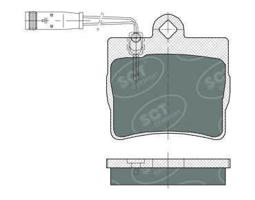 Комплект тормозных колодок, дисковый тормоз SCT SP389