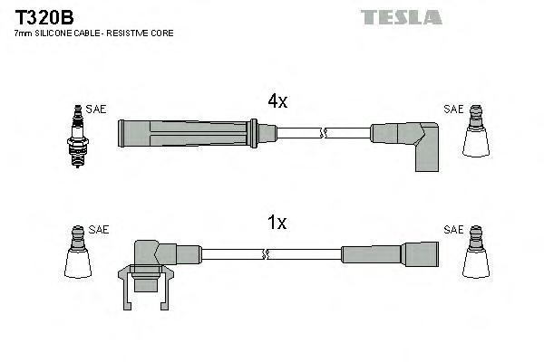 Комплект проводов зажигания TESLA T320B