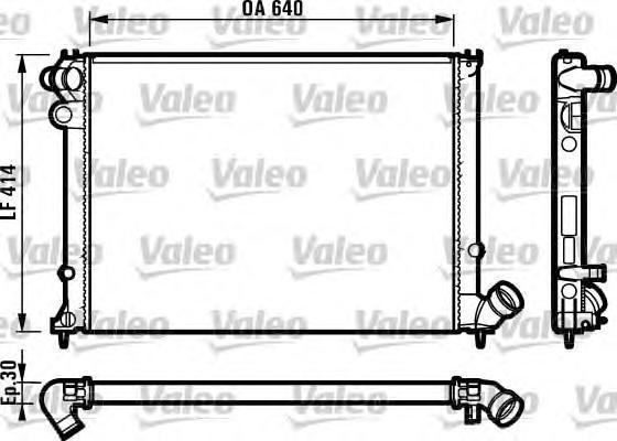 731383 VALEO Радиатор, охлаждение двигателя