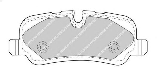 FDB4432 FERODO комплект колодок для дисковых тормозов