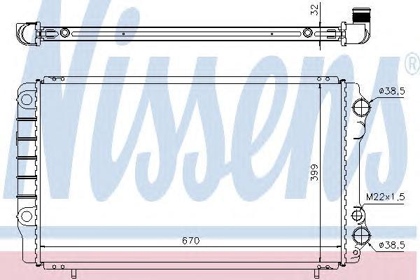 63912A NISSENS Радиатор, охлаждение двигателя