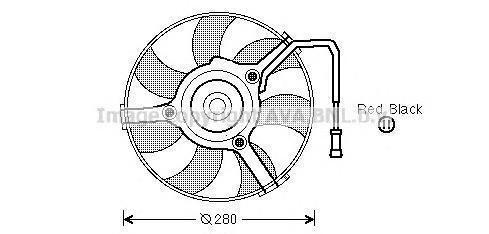 Вентилятор, охлаждение двигателя AVA AI7504