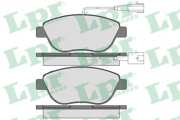 05P1657 LPR Комплект тормозных колодок, дисковый тормоз
