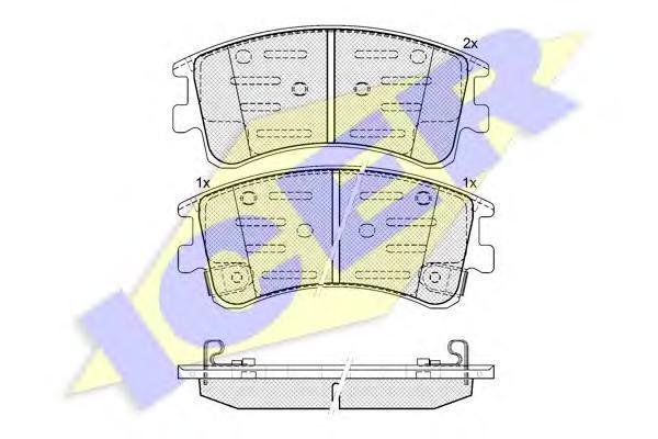 Комплект тормозных колодок, дисковый тормоз ICER 181578