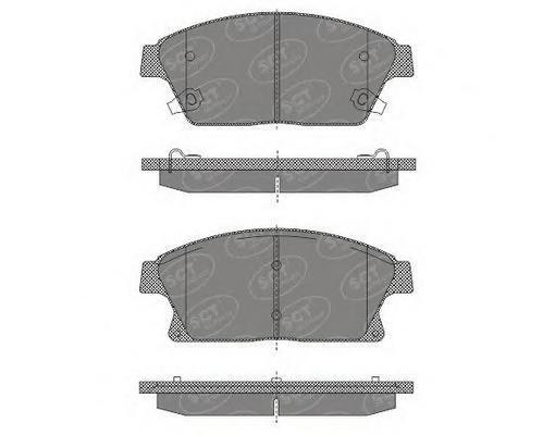 SP638 SCT Комплект тормозных колодок, дисковый тормоз