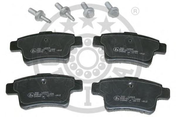 Комплект тормозных колодок, дисковый тормоз OPTIMAL 12343