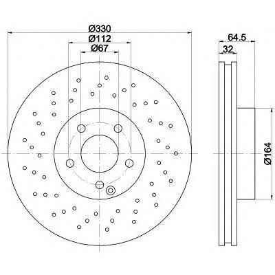 Тормозной диск TEXTAR 92120203
