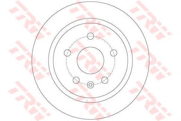 DF6312 TRW/LUCAS Тормозной диск