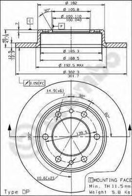 08450420 BREMBO Тормозной диск