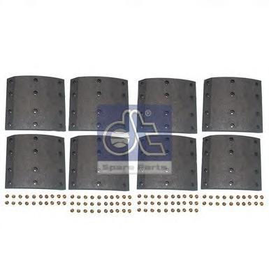 Комплект тормозных башмаков, барабанные тормоза DIESEL TECHNIC 135005