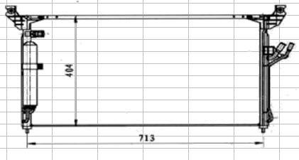 IFX3503930 BODYPARTS FX35 {FX45} КОНДЕНСАТОР КОНДИЦ