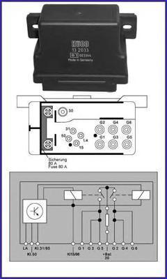 132033 HUCO Реле, система накаливания
